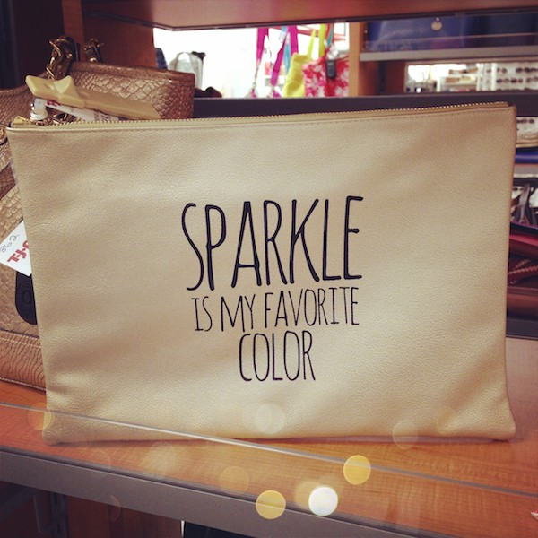 Sparkle is my favorite color clutch by Deux Lux