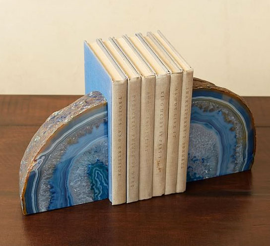 Pottery Barn Geode Bookends