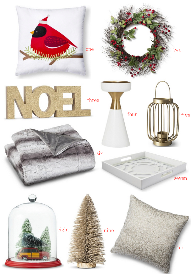 Target Holiday Decor Under $30