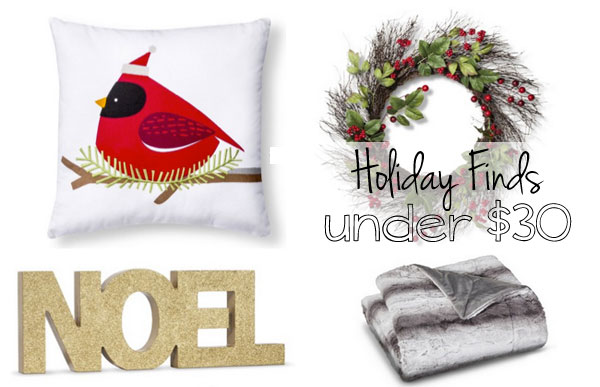 Holiday decor finds under $30