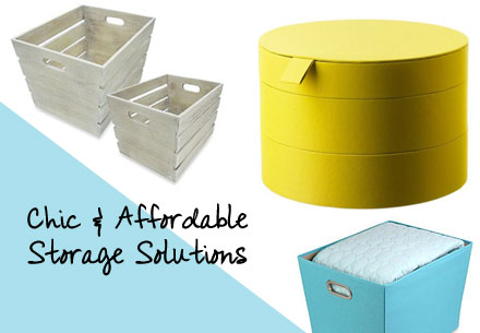 Chic and affordable storage solutions