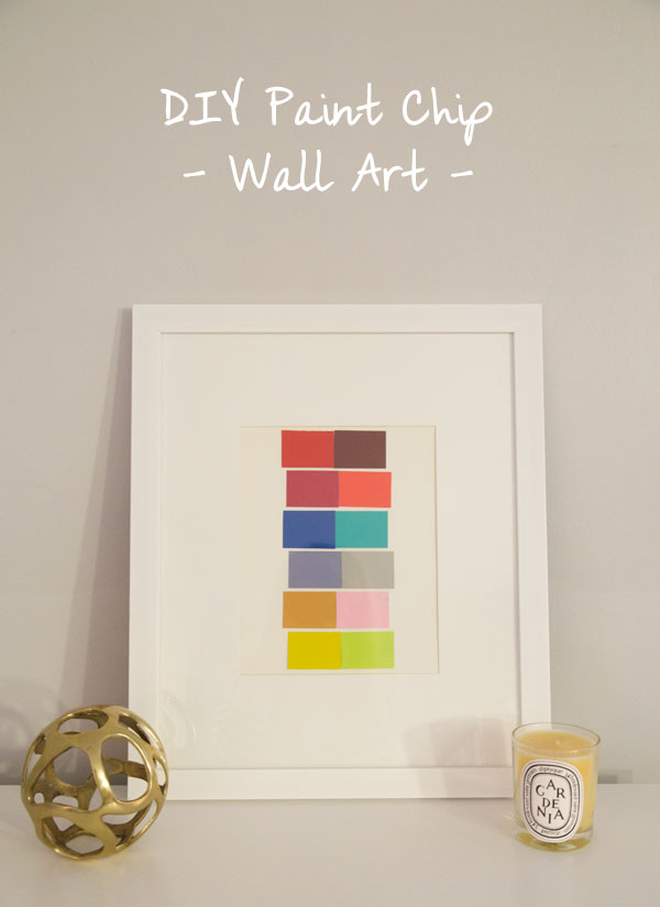 DIY Paint Chip Wall Art //  www.thebudgetbabe.com