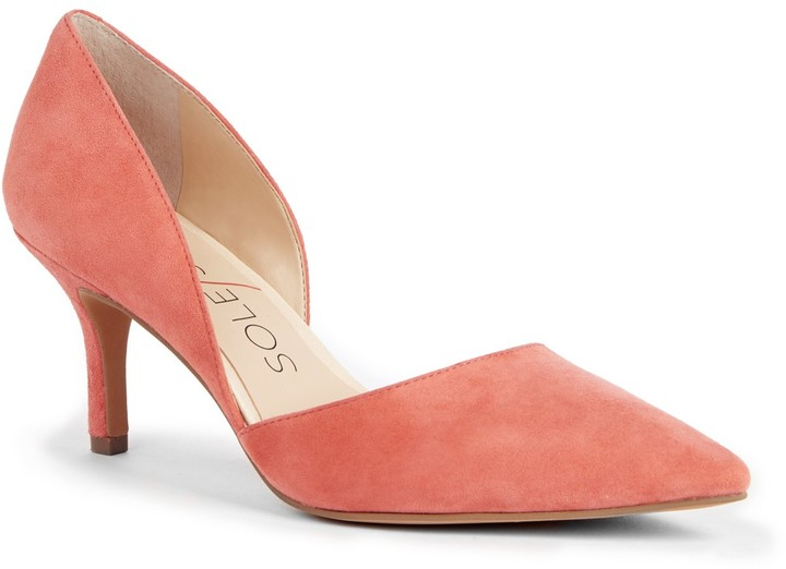 "Sole Society ""Jenn"" in coral"