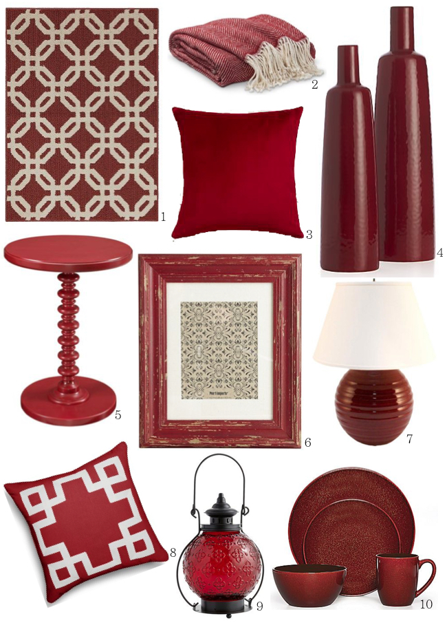 Marsala home decor finds on a budget