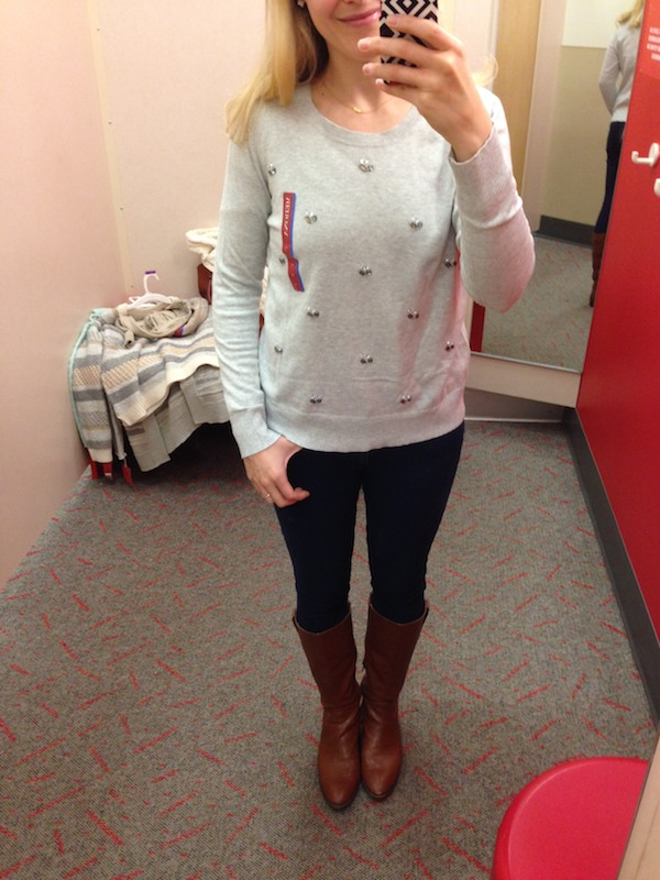Cute sweaters at Target