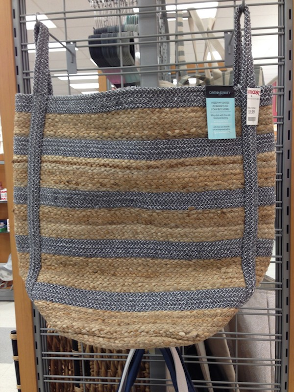 Cool oversized storage straw bag at TJ Maxx - so chic and cheap!