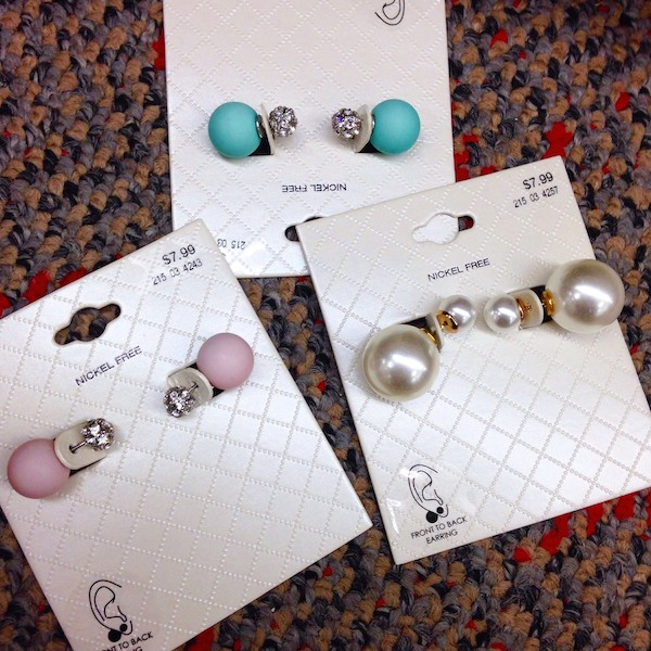 Off the Rack: Dior-Inspired Double Pearl Earrings at Target