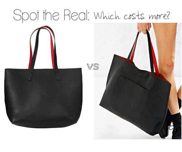 Spot the Real: Reversible Faux-Leather Tote - The Budget Babe ...