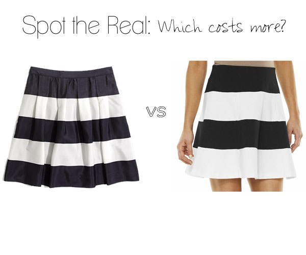 Spot the Real: Striped Skirts