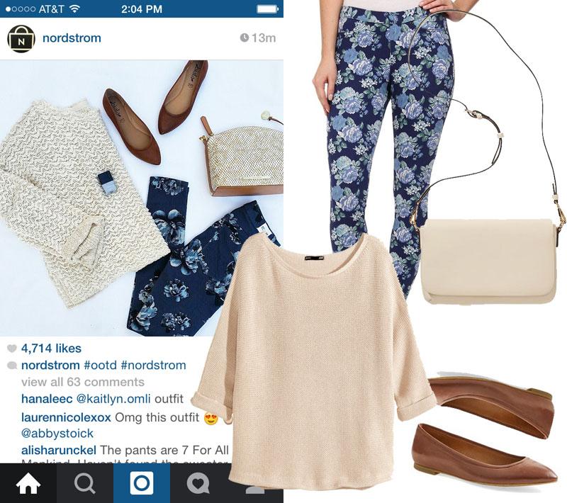 Nordstrom Floral Jeans Look