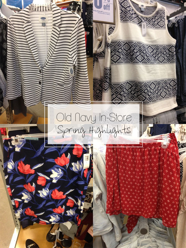 The Budget Babe: Old Navy In-Store Spring Fashion Highlights