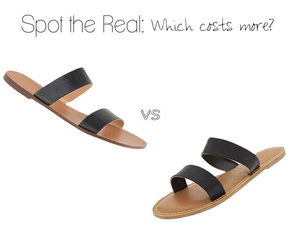 Can you guess which sandal costs more?