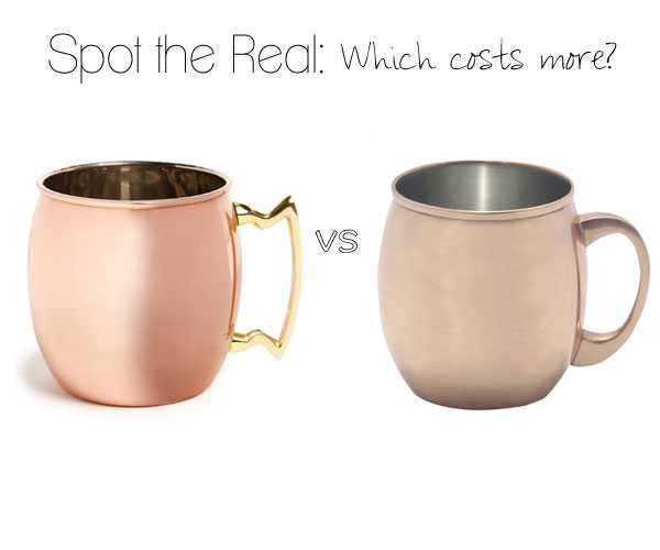 Can you guess which copper mug costs more?