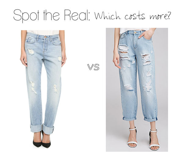 how to get Buy Authentic hot sales Spot the Real: Distressed Boyfriend Jeans - The Budget Babe ...