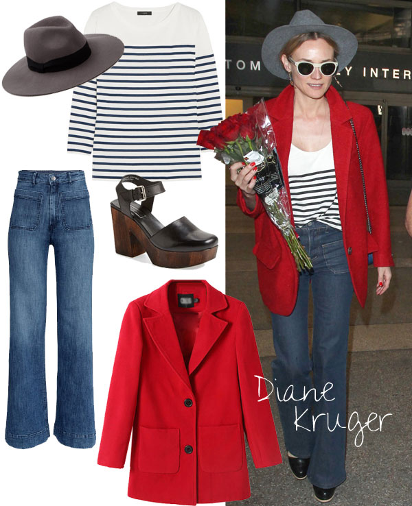 Diane Kruger's modern 70s look for less / Thebudgetbabe.com
