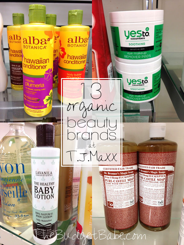 13 Organic Beauty Brands We Spotted at TJ Maxx (and you might too!)