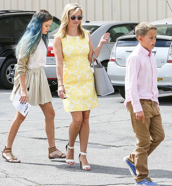 Reese Witherspoon's yellow floral DVF dress
