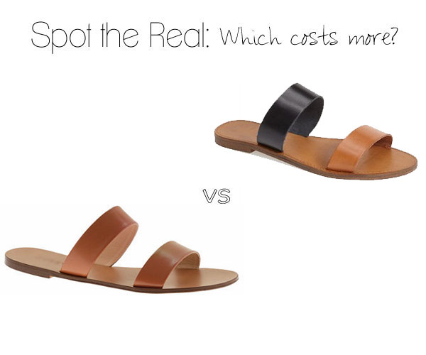Can you spot the real J.Crew sandals?