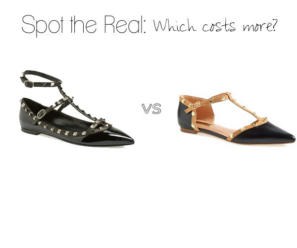 Can you guess which stud embellished flats cost more?