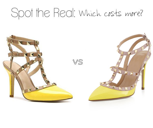 Valentino Rockstud lookalike in spring yellow, orange or blue
