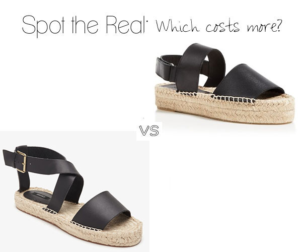 Can you spot the real Vince espadrilles?