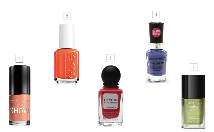 Top five spring nail polishes under $10!