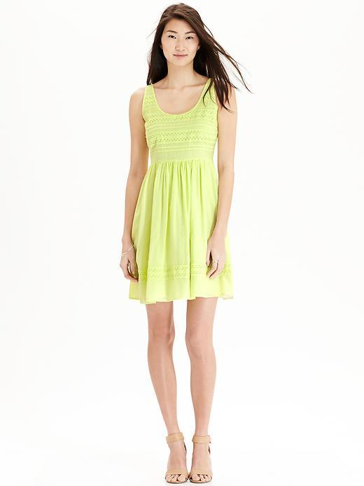 Yellow eyelet old navy dress