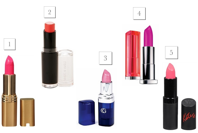 Top 5 lipsticks for spring under $10 / TheBudgetBabe.com