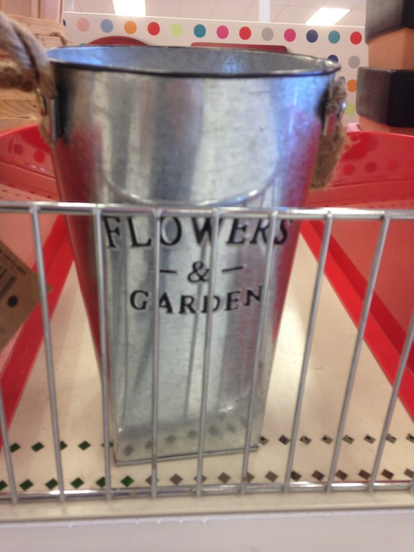 Dollar Bin Diaries: Shabby Chic Garden Supplies at Target