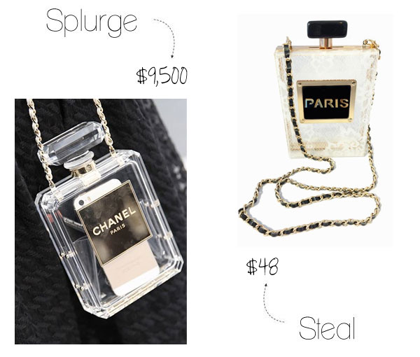 Chanel perfume bag look for less