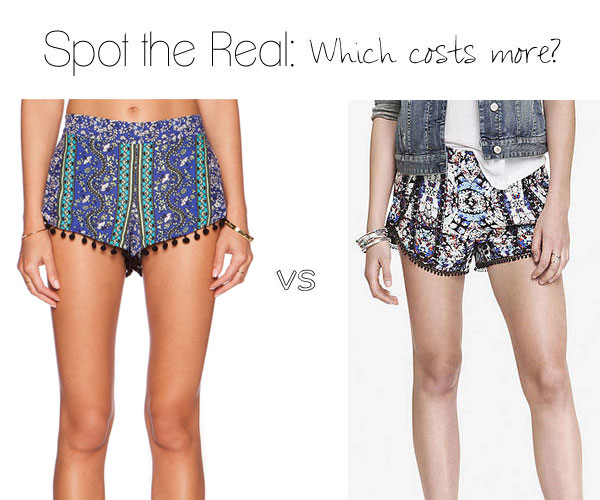 Pom pom shorts: Can you spot the expensive pair?