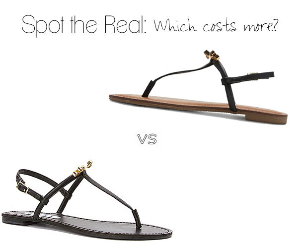 Can you guess which sandals cost more?