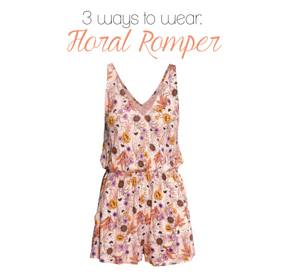 3 ways to wear a floral romper featuring complete looks under $100