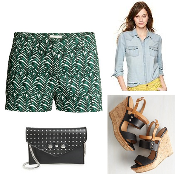 3 ways to wear printed shorts