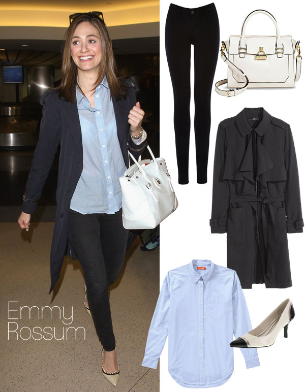 Emmy Rossum's classic style for less / See more celebrity looks for less at TheBudgetBabe.com