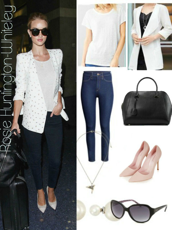 Rosie Huntington-Whiteley's look for less
