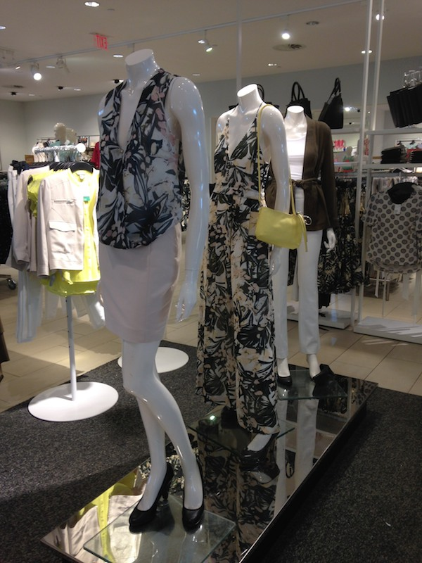 In-store photos of cute fashions now at H&M