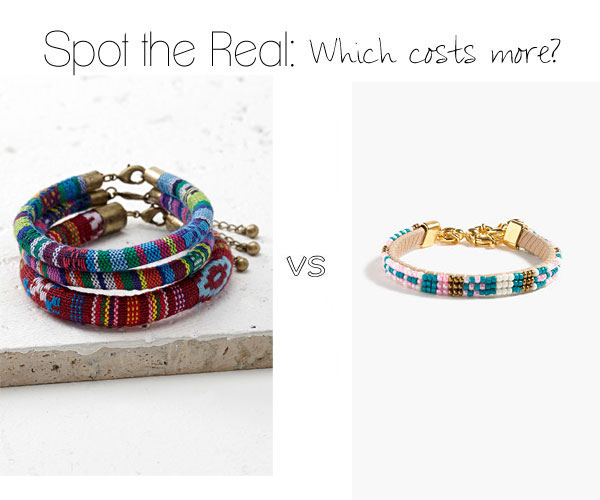 Can you guess which beaded bracelet costs more?