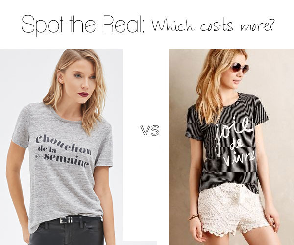 Can you guess which t-shirt costs more?