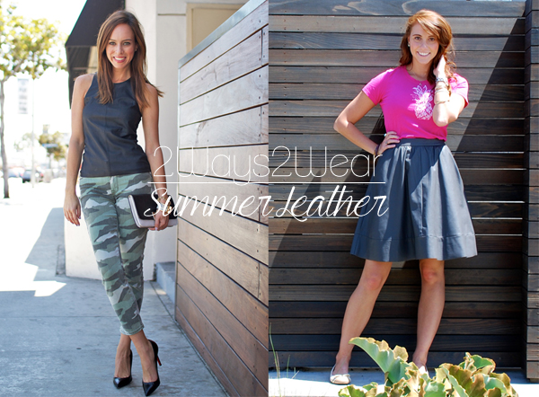Sydne Summer's leather top and camo jeans