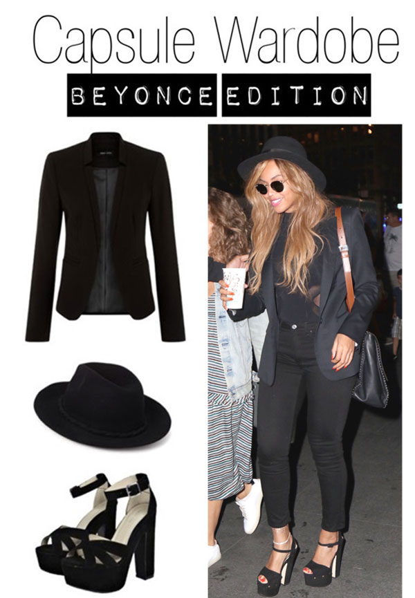 Capsule Wardrobe inspired by Beyonce's fashion style