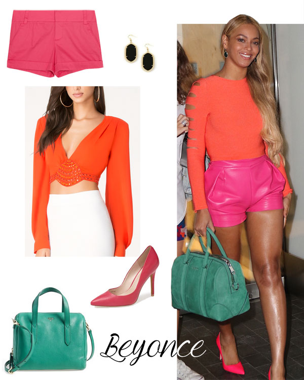 Beyonce's colorblock look for less