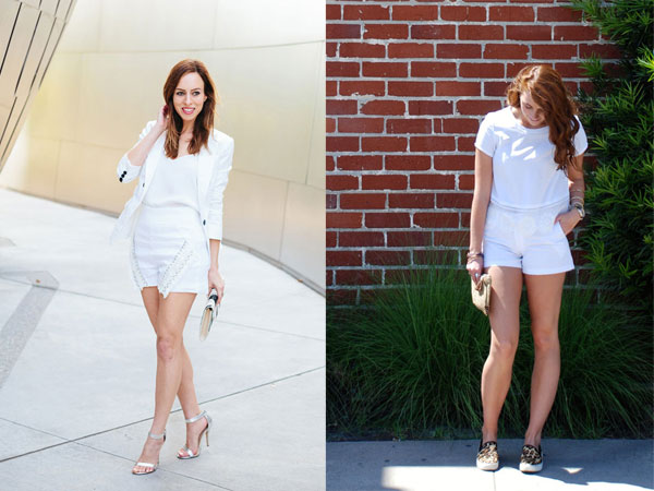 Two ways to wear the all white trend for summer with Sydne Style