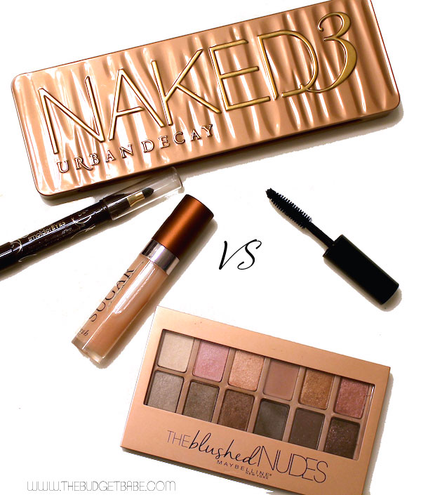 Maybelline The Blushed Nudes is an amazing budget dupe for Urban Decay's Naked3 eyeshadow palette!!