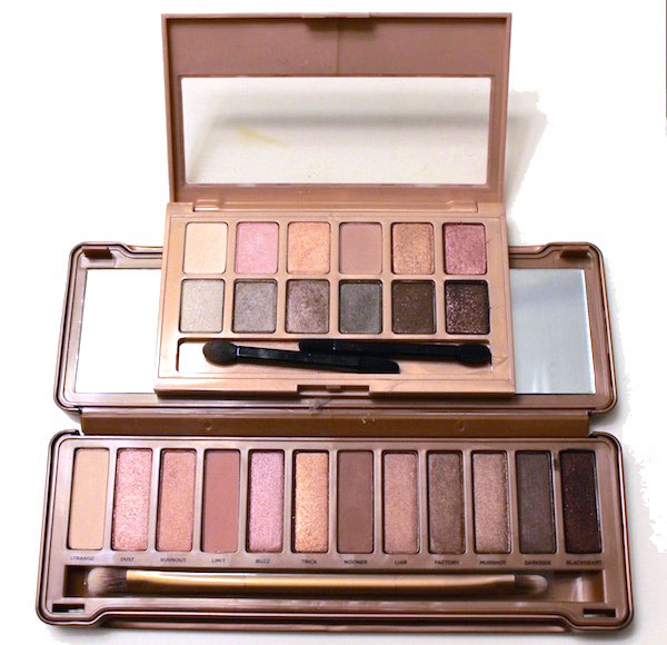 Urban Decay Naked 3 versus Maybelline The Blushed Nudes palette comparison side by side with swatches
