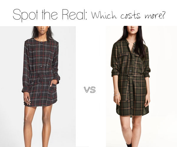 Can you spot the real A.L.C. plaid shirt dress?