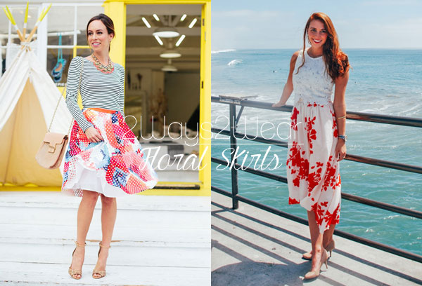 How to style floral skirts two ways, whether you're petite or tall