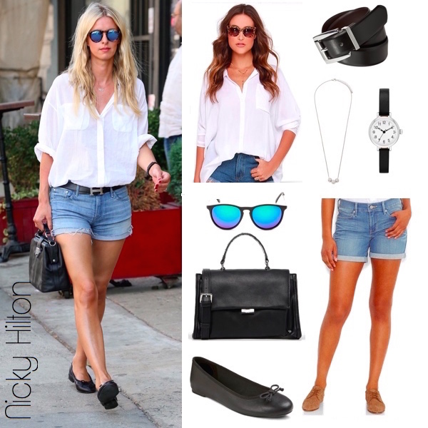 Nicky Hilton Black and White Look