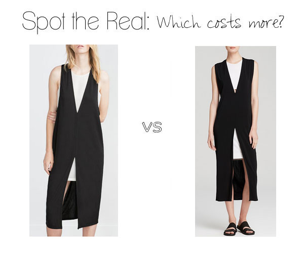 Can you spot the real Helmut Lang dress?