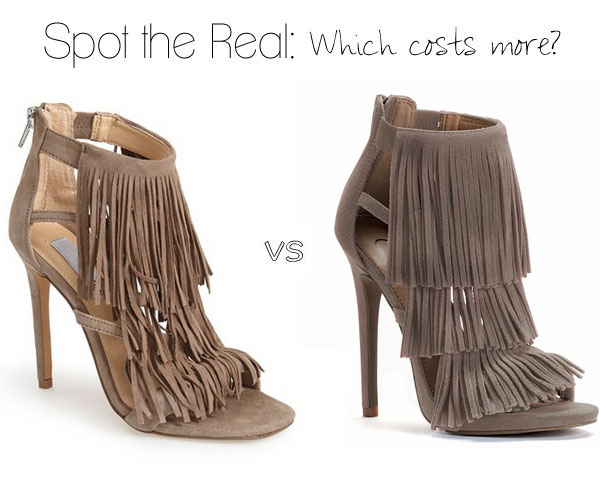 Can you spot the real Steve Madden fringe sandals?